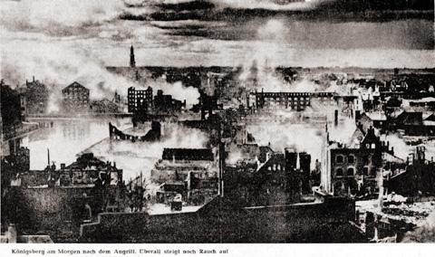 Kenigsbergo post la bombado 1944