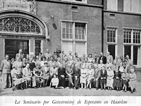 Ĉe-seminario en Haarlem (1954)