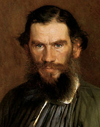 Kramskoj: portreto de Tolstoj