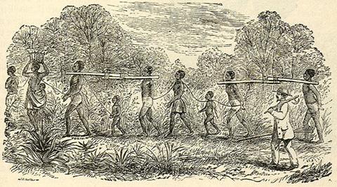 Sklavtransportado en Afriko